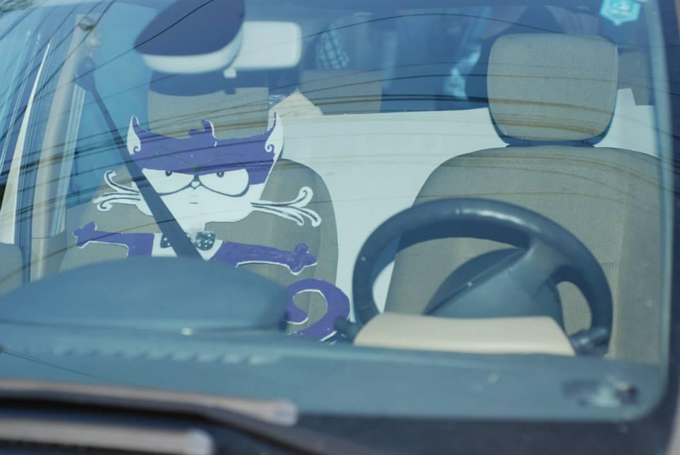 motanov in the car