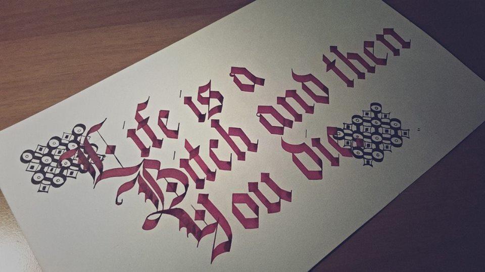 calligraphy by Ioana Harasim